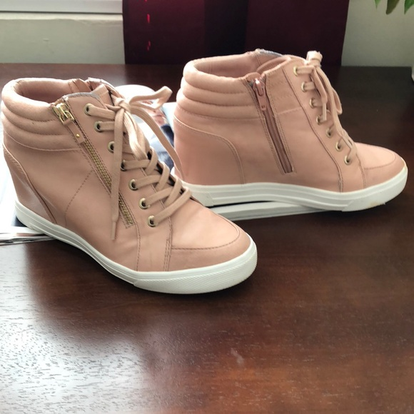 480196075ff0 Aldo Shoes - 🔥ALDO Kaia Lace-Up Wedges Sneakers 💞Pink💞